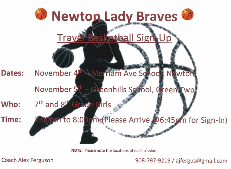 Newton Lady Braves Basketball